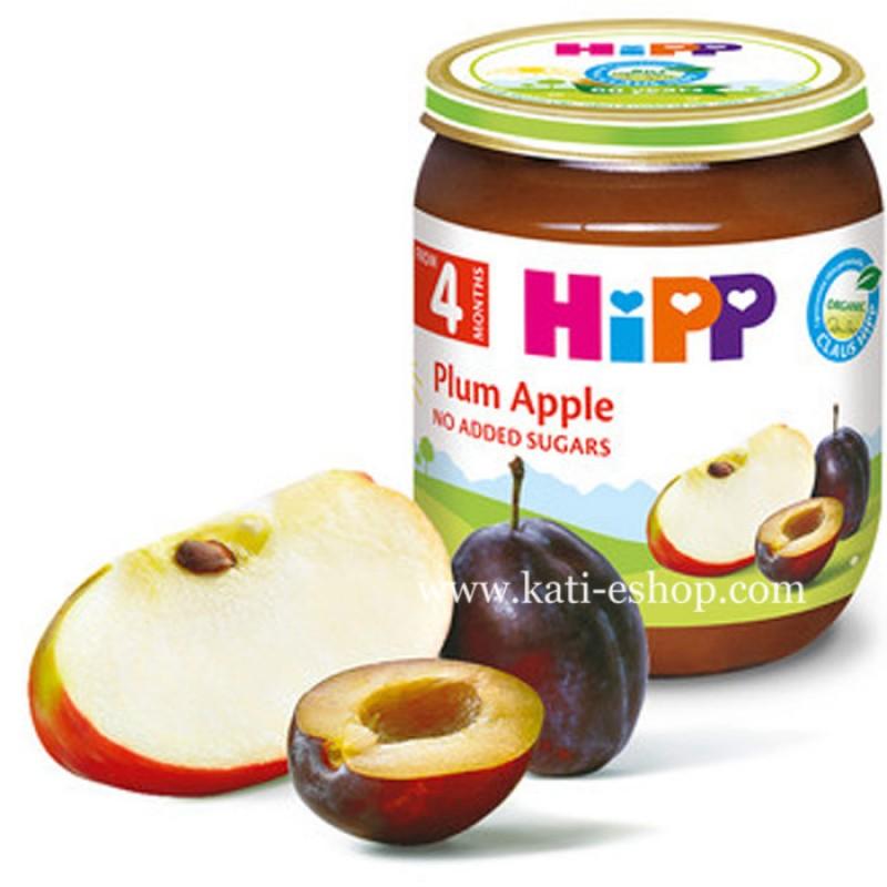 HiPP БИО Сливи и ябълки 4м. 125г