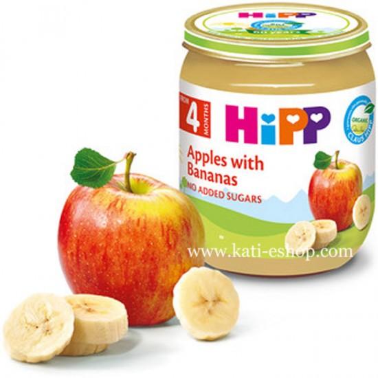 HiPP БИО Ябълки с банан 4м. 125г
