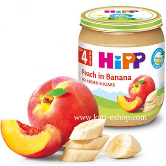 HiPP БИО Праскови с банани 4м. 125г
