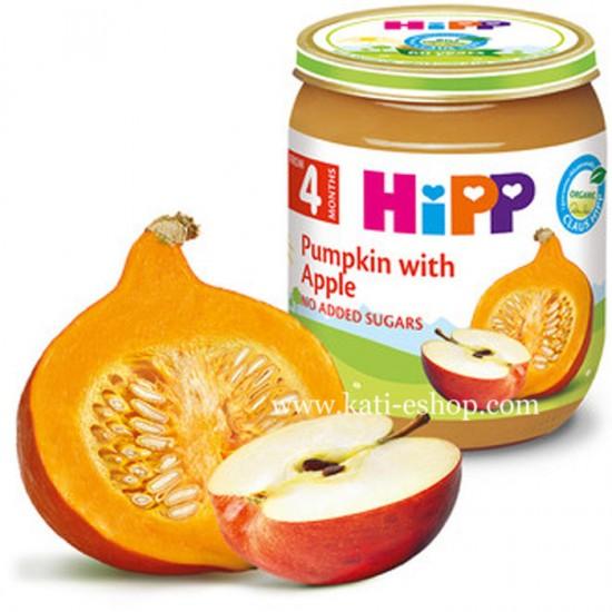 HiPP БИО Тиква с ябълки 4м. 125г