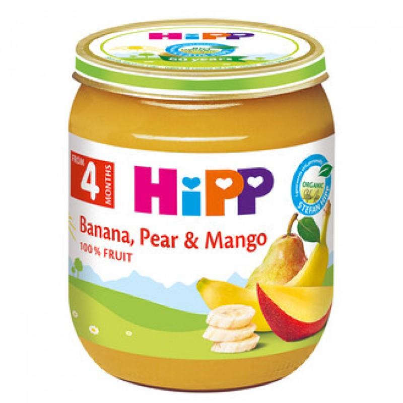 HiPP БИО Банан, круша и манго 4м. 125г