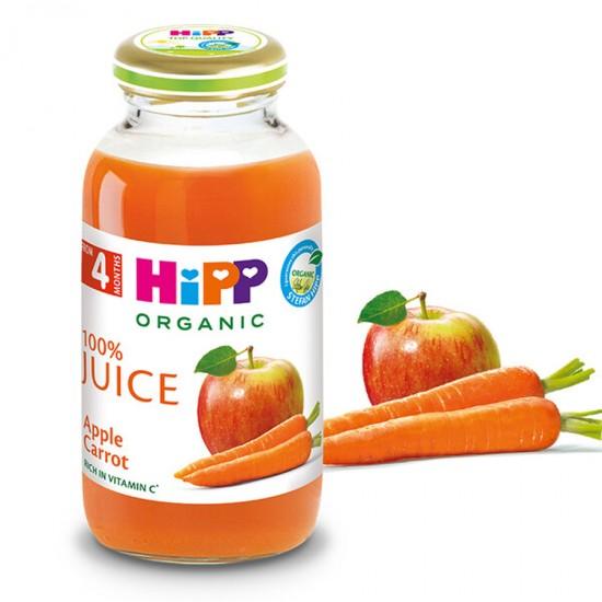 HiPP БИО Сок от ябълки и моркови 4м. 200ml