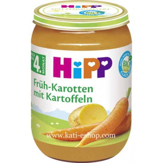 HiPP БИО Ранни моркови с картофи 5м. 190г