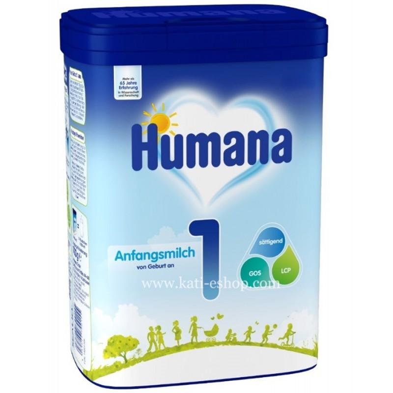HUMANA 1 Мляко за кърмачета 0-6м. 800г
