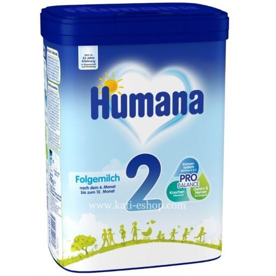 HUMANA 2 Преходно мляко 6м.+ 800г