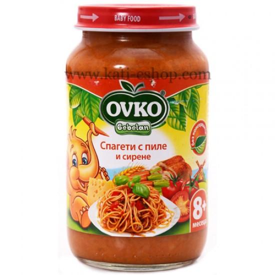 OVKO Спагети с пиле и сирене 8м. 220г