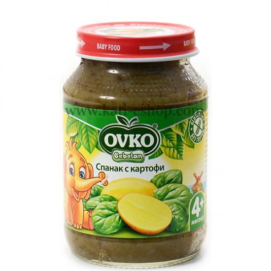 OVKO Пюре спанак с картофи 4м. 190г