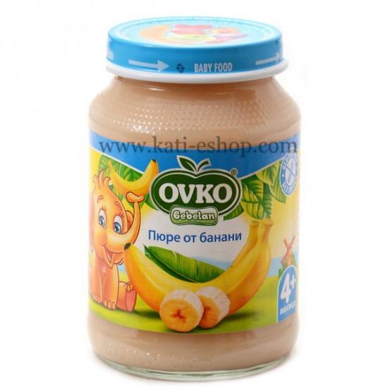 OVKO Пюре от банани 4м. 190г