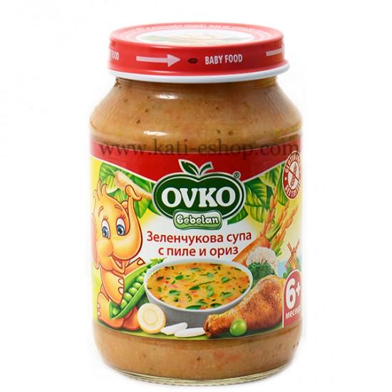 OVKO Зеленчукова супа с пилешко 6м. 190г