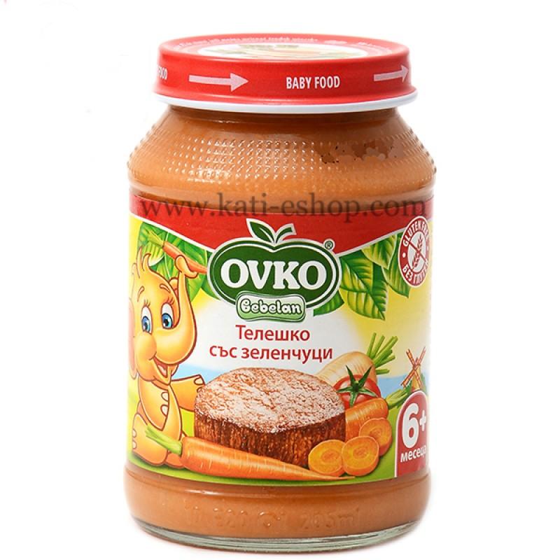 OVKO Телешко със зеленчуци 6м. 190г