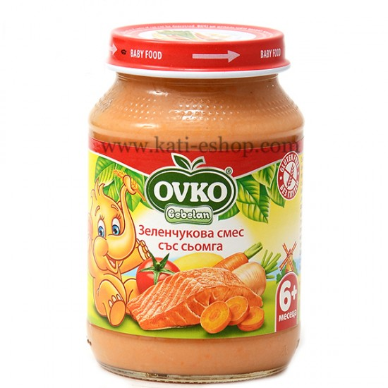 OVKO Сьомга със зеленчуци 6м. 190г