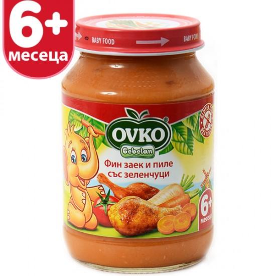 OVKO Фин заек и пиле със зеленчуци  6м. 190г