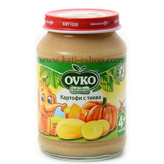 OVKO Пюре картофи и тиква 4м. 190г