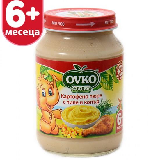 OVKO Картофено пюре с пиле и копър 6м. 190г