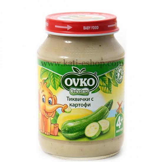 OVKO Пюре тиквички и картофи  4м. 190г