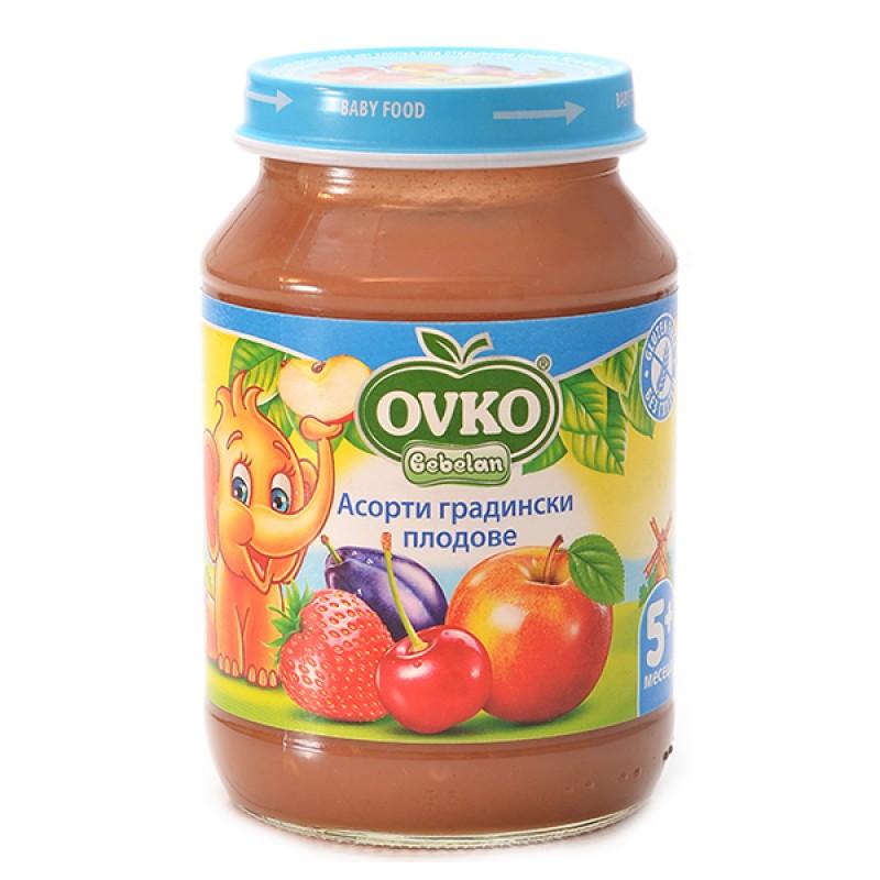 OVKO Асорти Градински плодове 5м. 190г