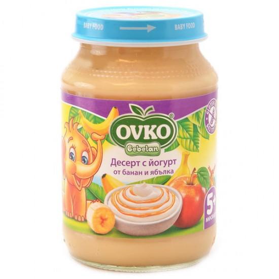 OVKO Десерт с йогурт банан и ябълка  5м.  190г