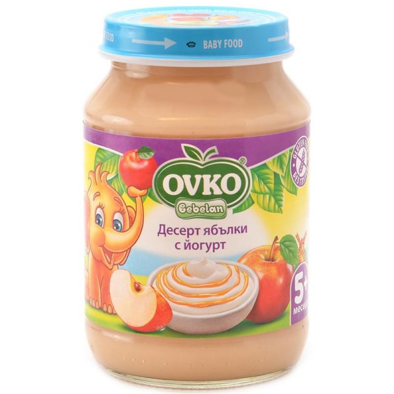 OVKO Десерт с йогурт  ябълки 5м. 190г