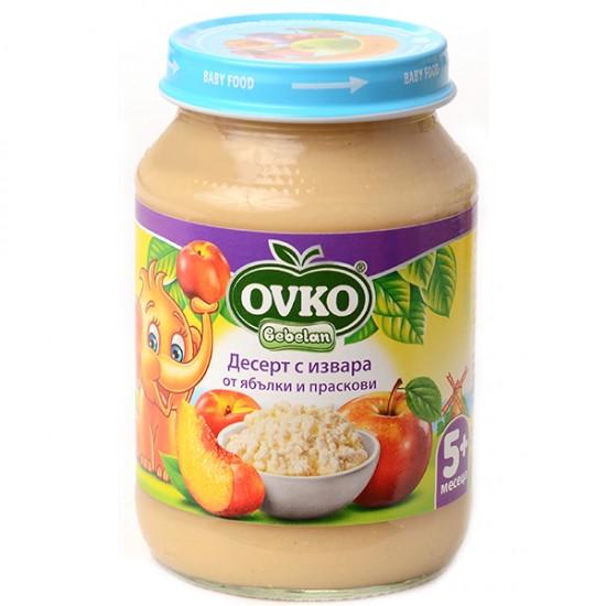 OVKO Десерт с извара ябълки и праскови 5м. 190г