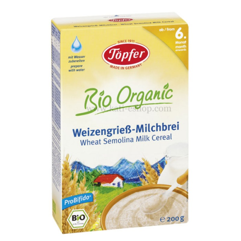 LACTANA BIO Млечна каша с пшеничен грис 6м. 200г