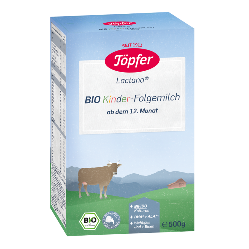 LACTANA KINDER Преходно БИО мляко 12м+  500г